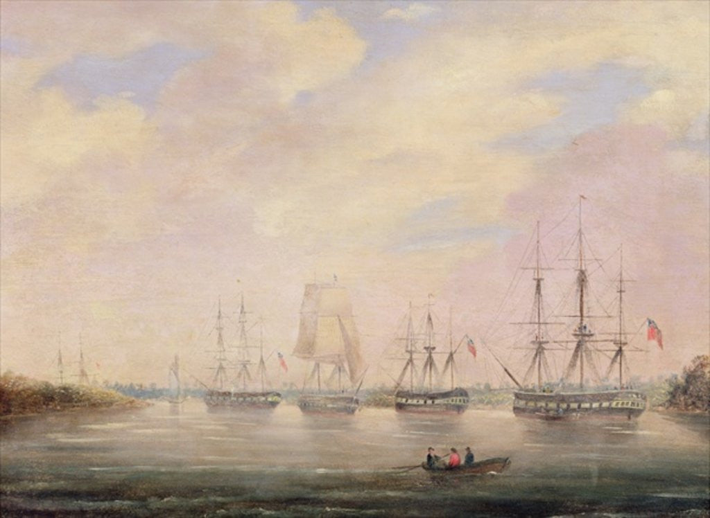 Detail of View of Port Adelaide, South Australia by Colonel William Light