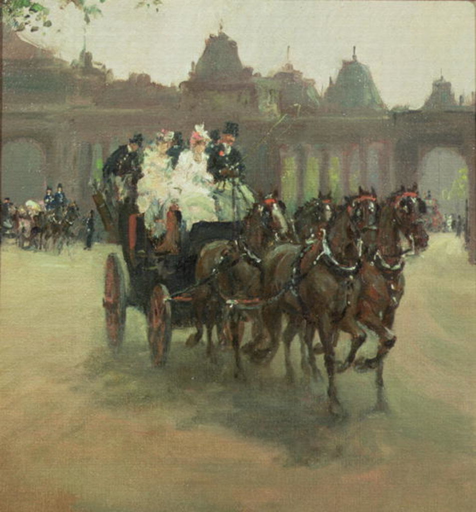 Detail of Carriages at Hyde Park by Albert Snr. Ludovici