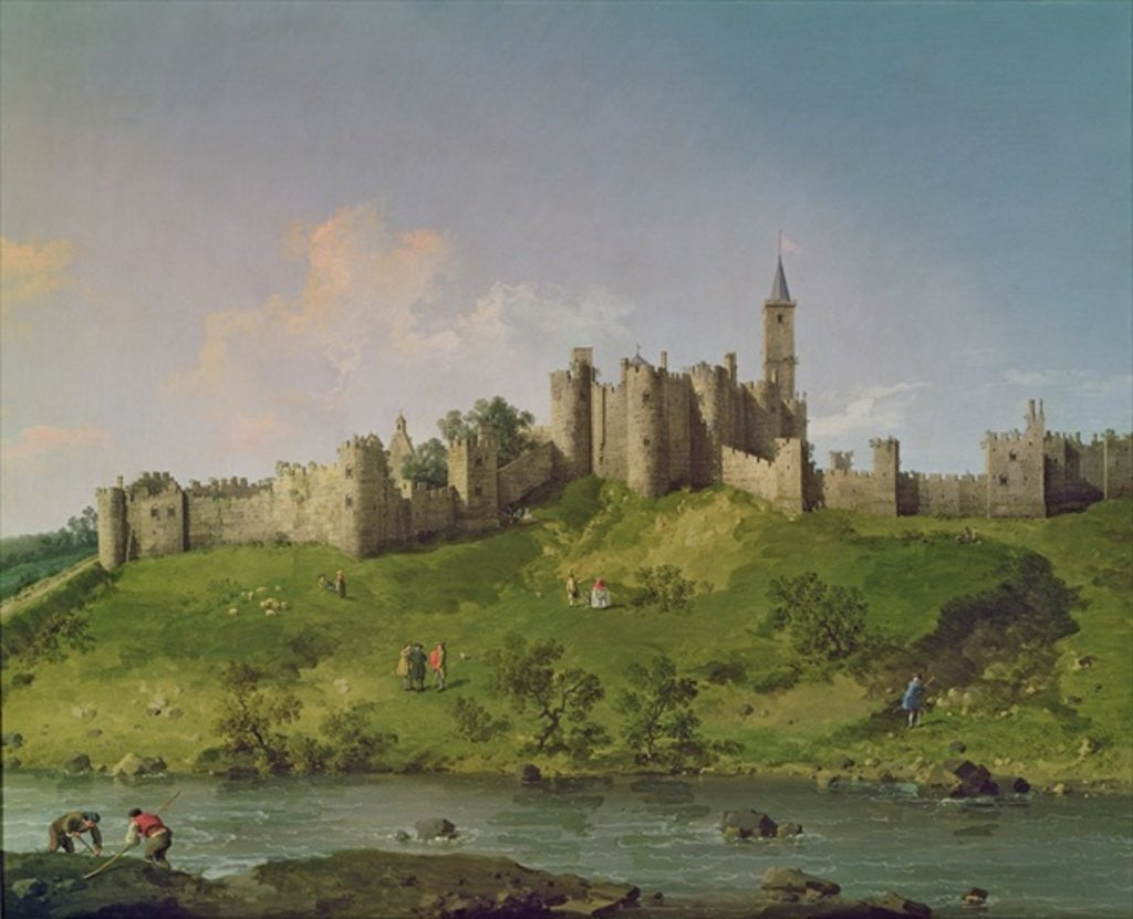 Detail of Alnwick Castle by Canaletto