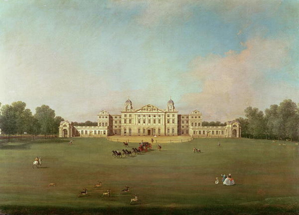 Detail of Badminton House, Gloucestershire by Canaletto