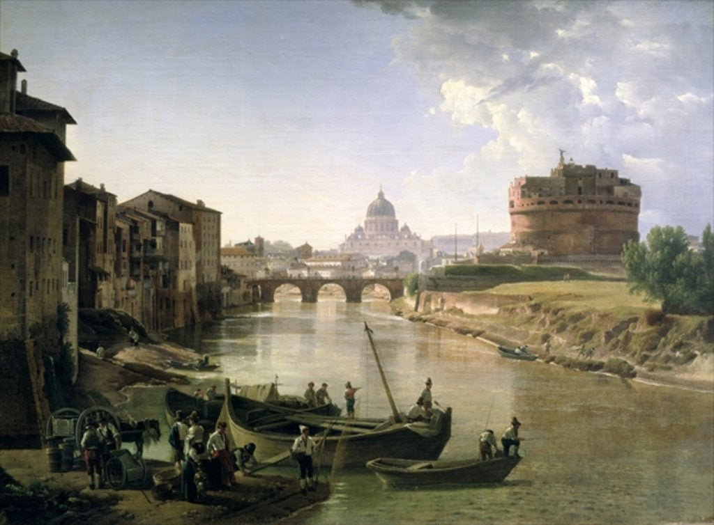 Detail of New Rome with the Castel Sant'Angelo by Silvestr Fedosievich Shchedrin