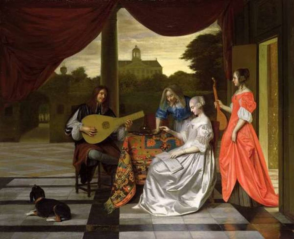 Detail of Musical Scene in Amsterdam by Pieter de Hooch