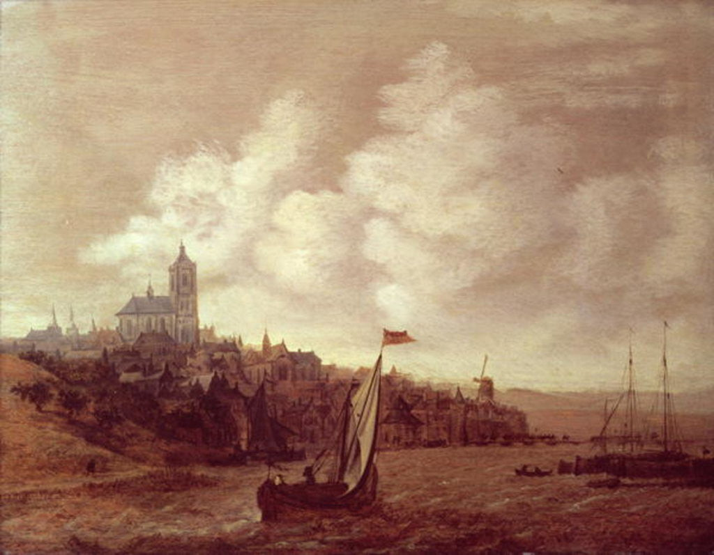 Detail of River and City Scene by Jan Meerhout