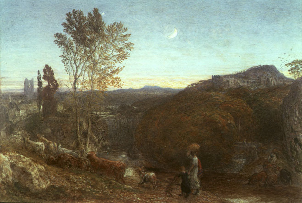 Detail of Going Home at Curfew Time by Samuel Palmer