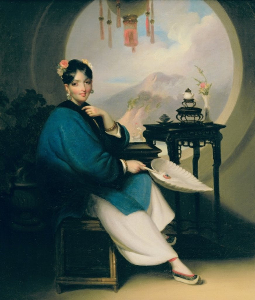 Detail of A Geisha Girl by George Chinnery