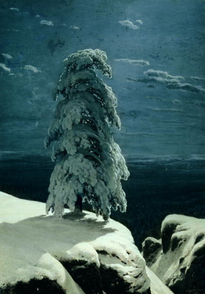 Detail of In the Wild North by Ivan Ivanovich Shishkin