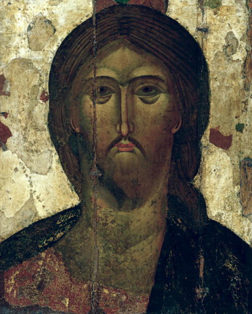 Detail of The Saviour by Russian School