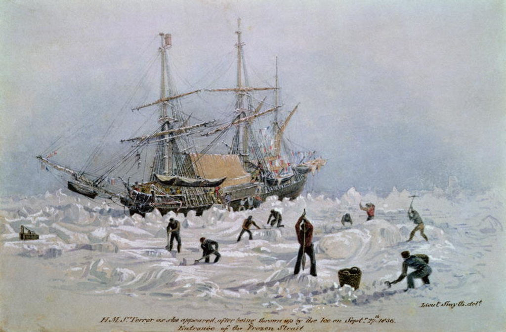 Detail of Incidents on a Trading Journey: HMS Terror as she Appeared After Being Thrown Up by the Ice in Frozen Channel by Lieutenant Smyth