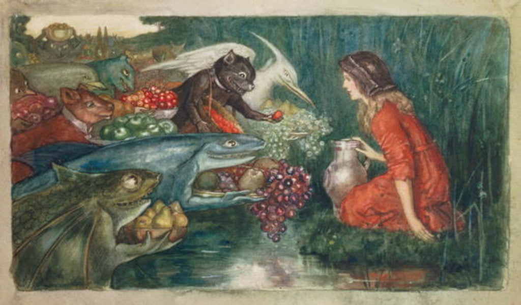 Detail of Goblin Harvest by Amelia M. Bowerley or Bauerle