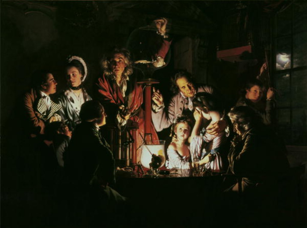 Detail of An Experiment on a Bird in the Air Pump, 1768 by Joseph Wright of Derby