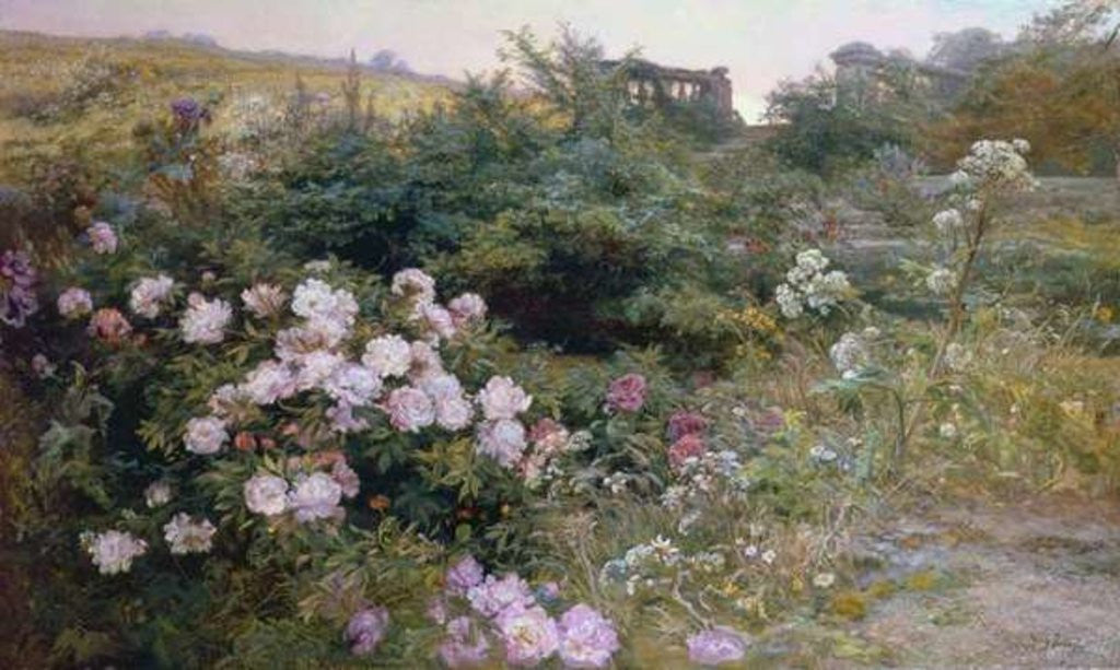 Detail of In Full Bloom by Henry Arthur Bonnefoy