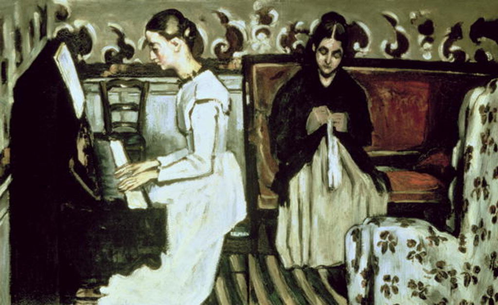 Detail of Girl at the Piano by Paul Cezanne