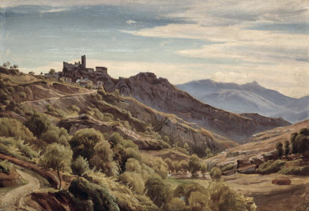 Detail of View of Olevano by Franz Theobald Horny