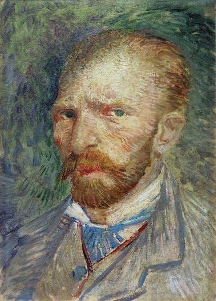 Detail of Self Portrait by Vincent van Gogh