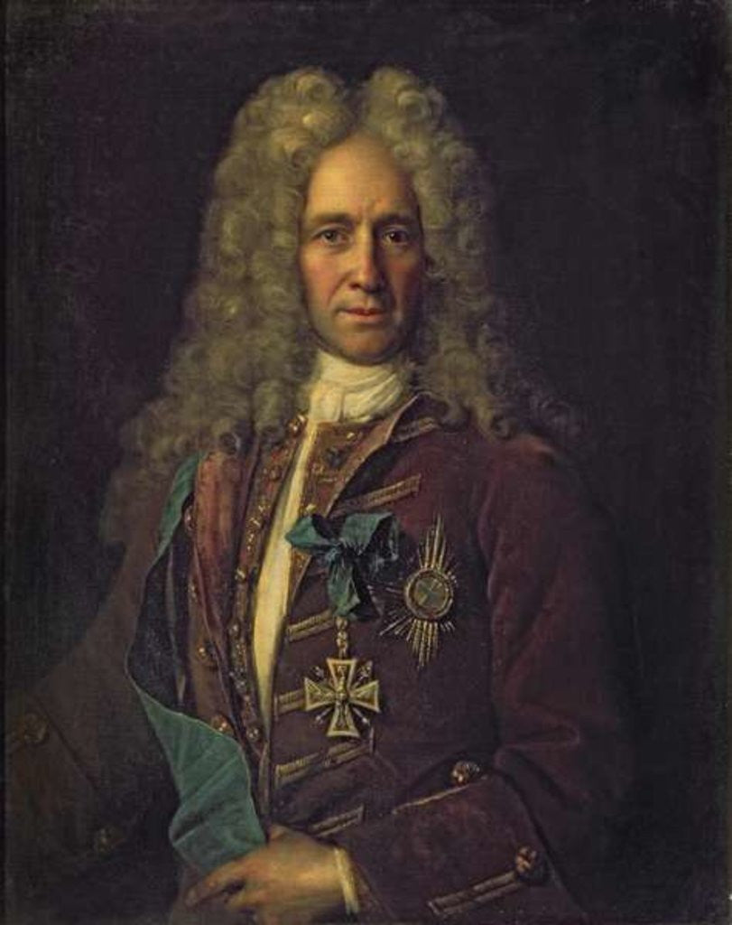 Detail of Portrait of State Chancellor Count G. Golovkin by Ivan Nikitich Nikitin