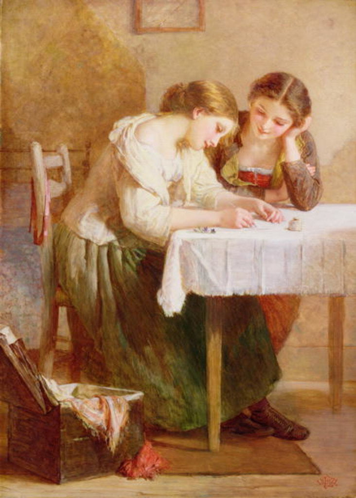Detail of The Love Letter by Henry Le Jeune