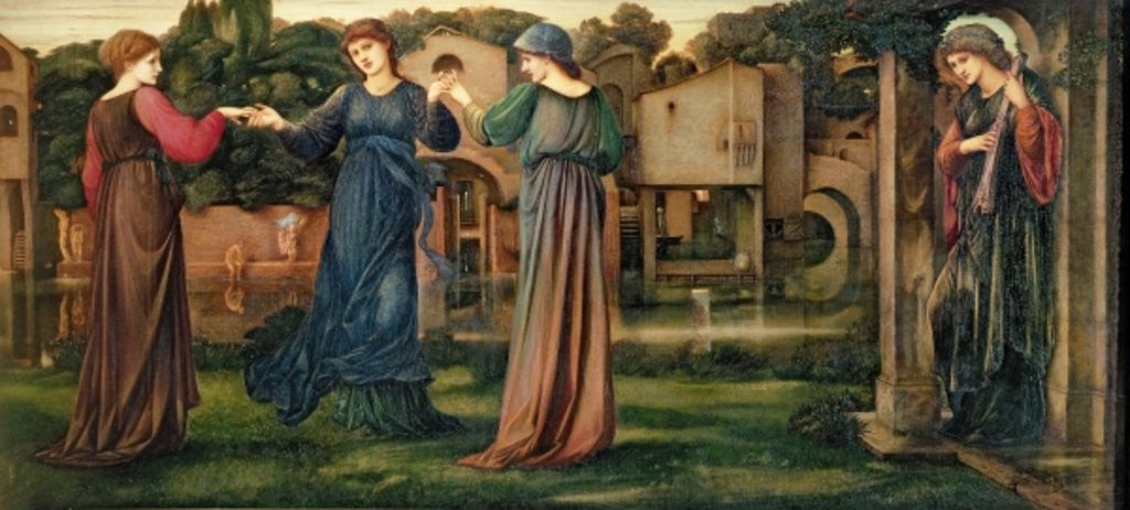 Detail of The Mill by Sir Edward Coley Burne-Jones