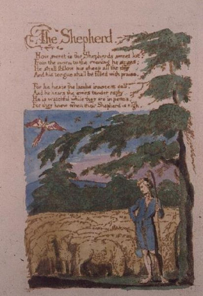 Detail of The Shepherd by William Blake