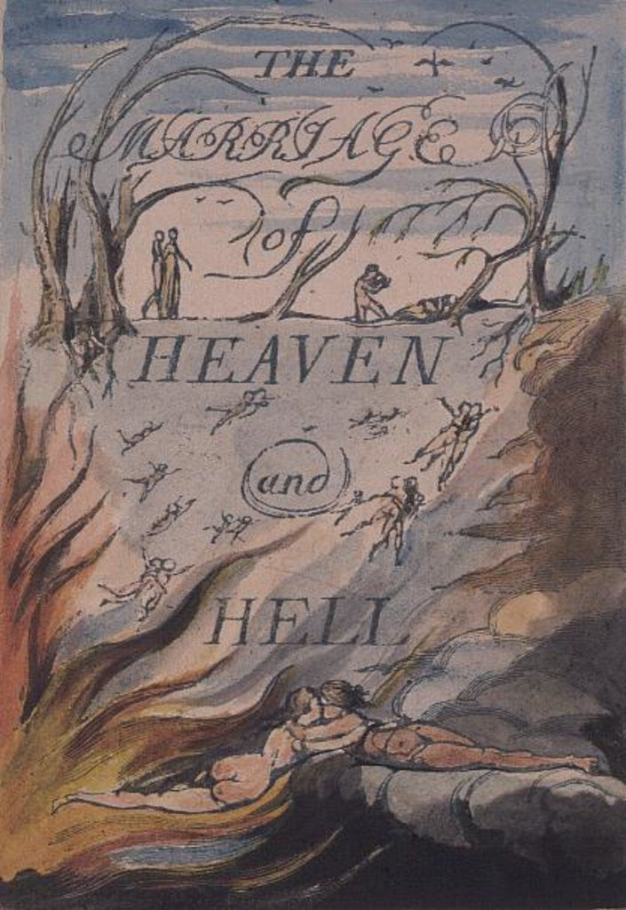 Detail of Title Page by William Blake