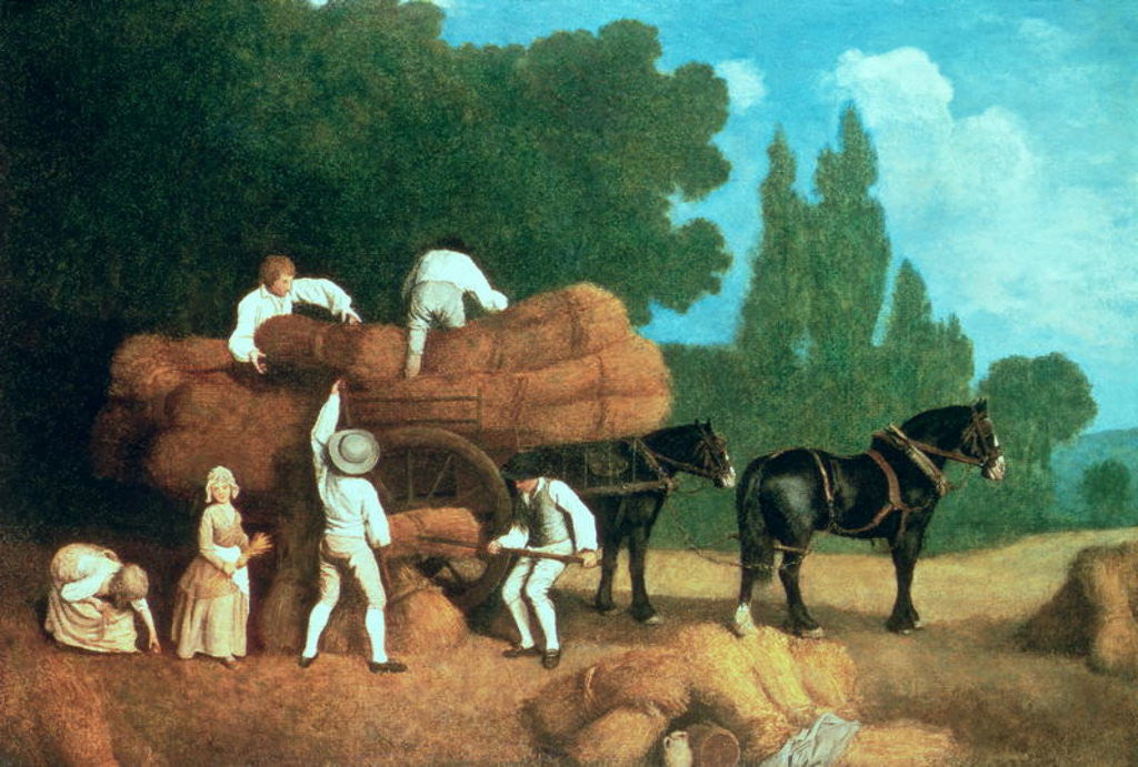 Detail of The Harvest Wagon by George Stubbs