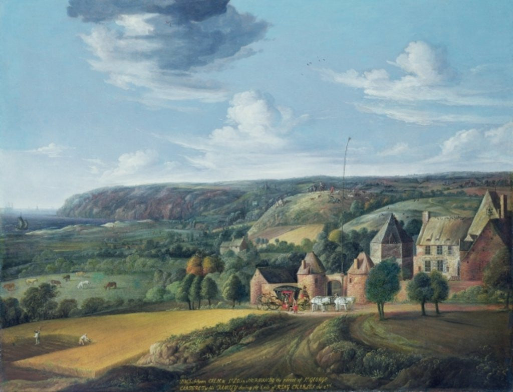 Detail of View of Potrel Manor, near Dragey in Normandy by Jan the Elder Griffier