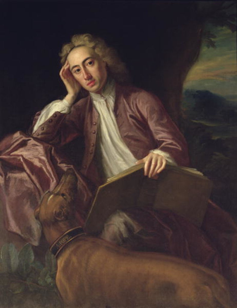 Detail of Alexander Pope and his dog, Bounce by Jonathan Richardson