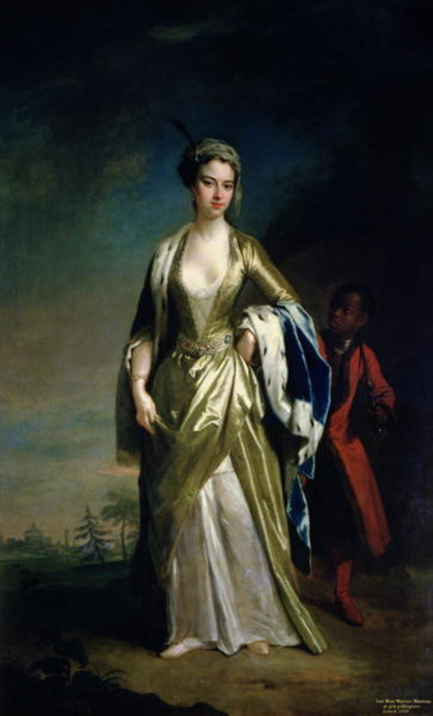 Detail of Lady Mary Wortley Montagu by Jonathan Richardson