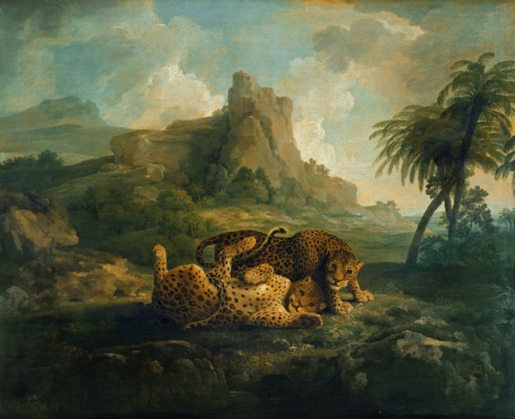 Detail of Tygers at Play by George Stubbs