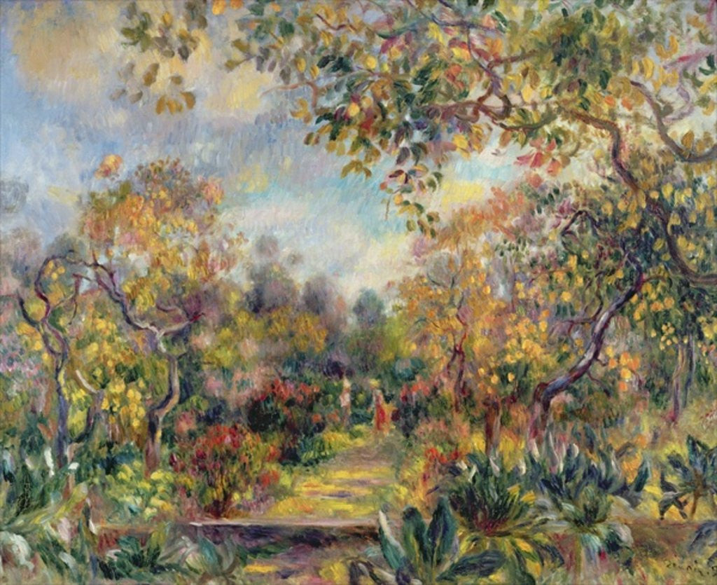 Detail of Landscape at Beaulieu by Pierre Auguste Renoir