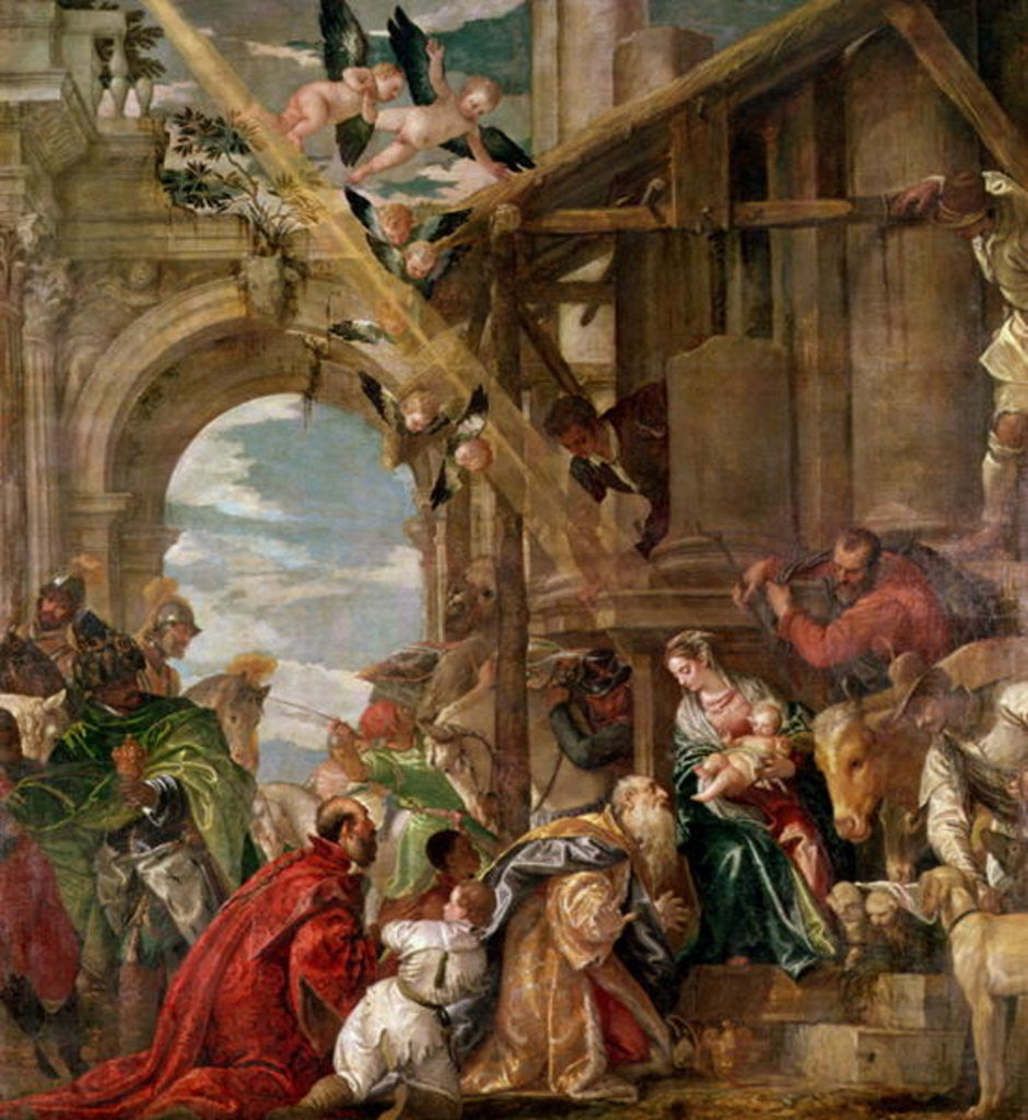 Detail of Adoration of the Kings by Veronese