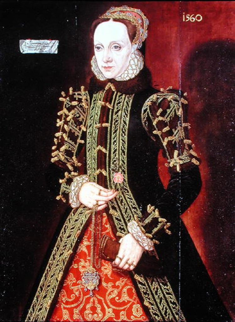 Detail of Elizabeth Fitzgerald, Countess of Lincoln by Steven van der Meulen
