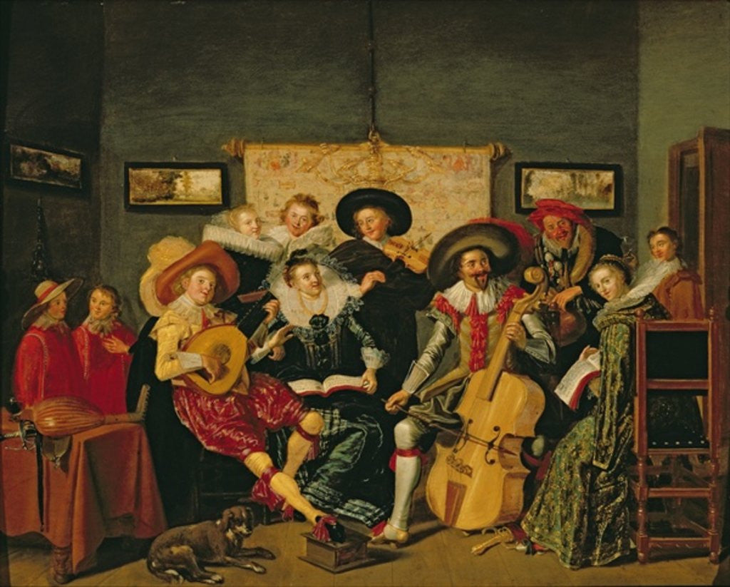 Detail of A Musical Party by Dirck Hals
