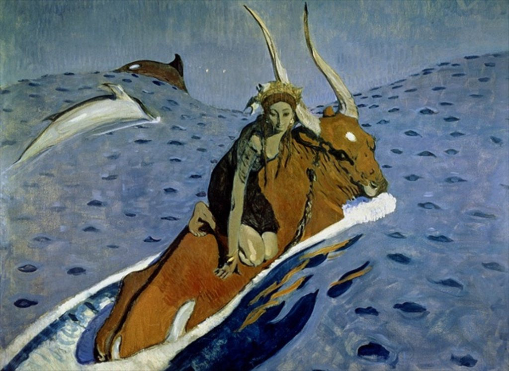 Detail of The Rape of Europa by Valentin Aleksandrovich Serov