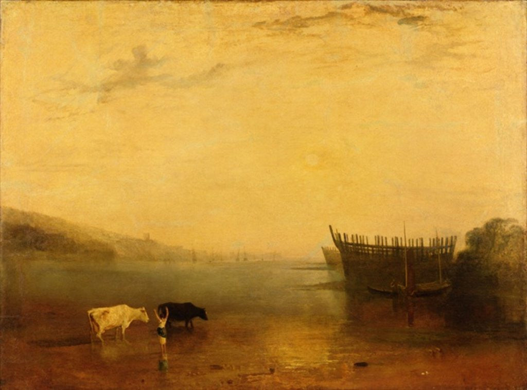 Detail of Teignmouth Harbour by Joseph Mallord William Turner