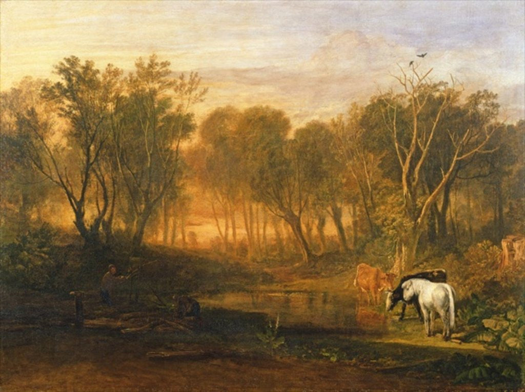 Detail of The Forest of Bere by Joseph Mallord William Turner