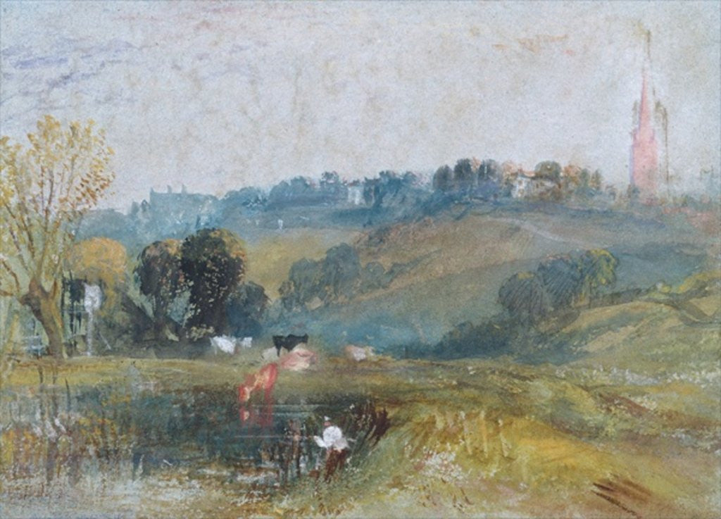 Detail of Landscape near Petworth by Joseph Mallord William Turner