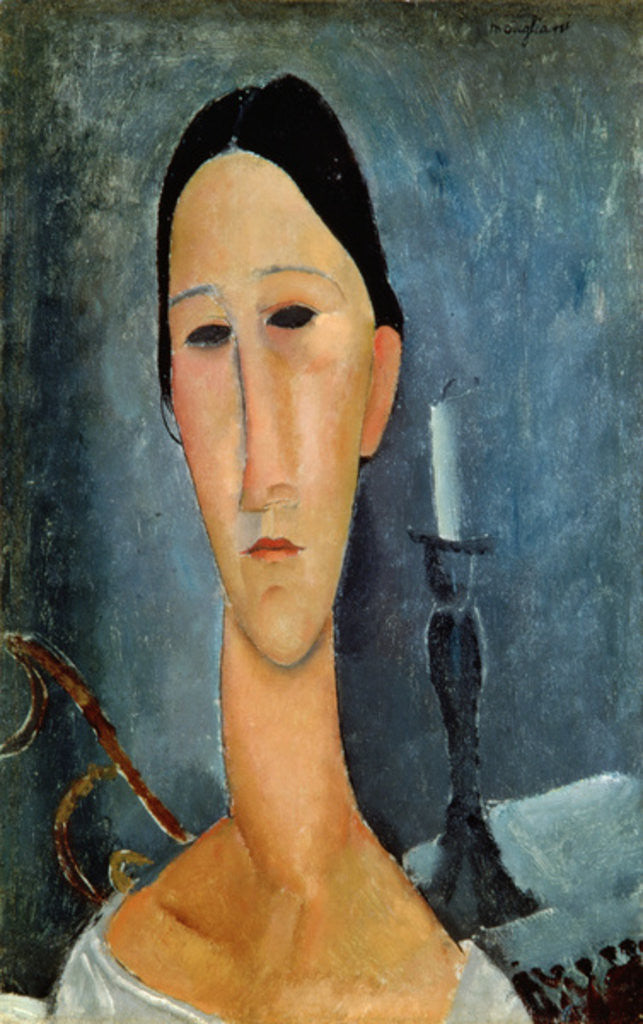 Detail of Hanka Zborowska with a Candlestick by Amedeo Modigliani