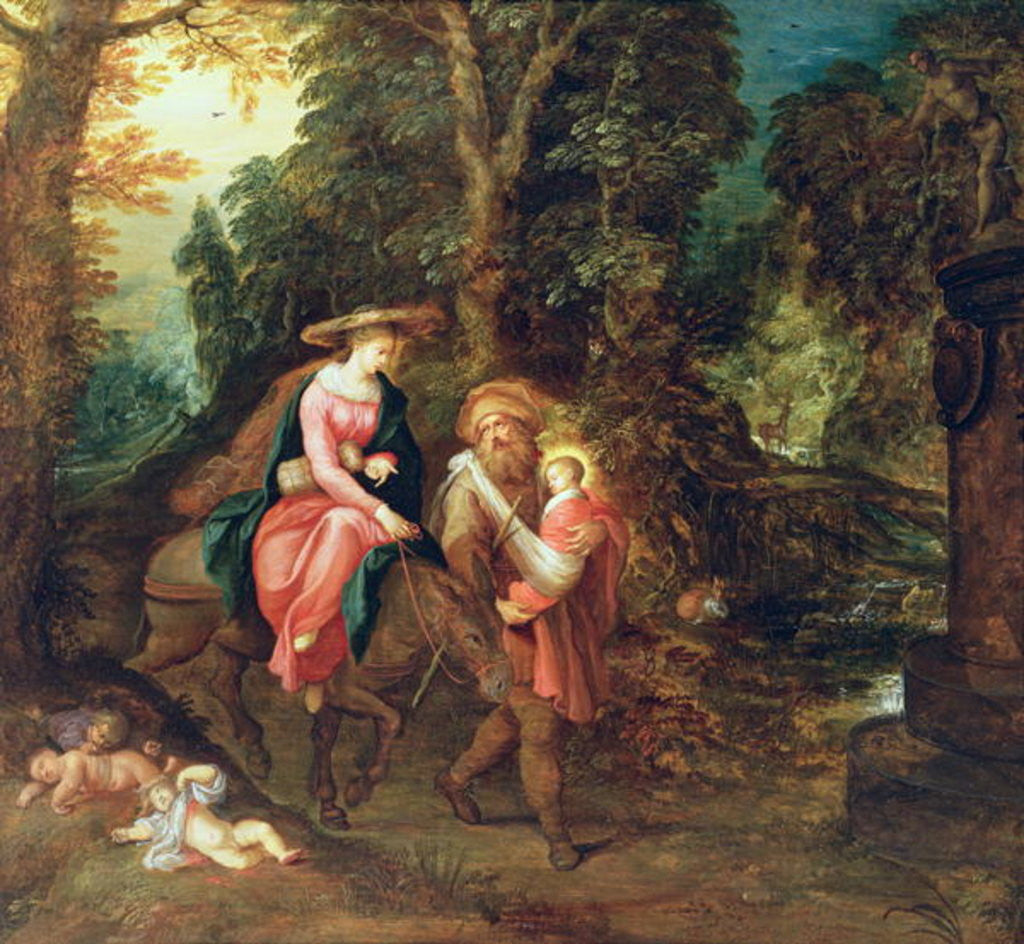 Detail of The Flight into Egypt by Frans & Govaerts