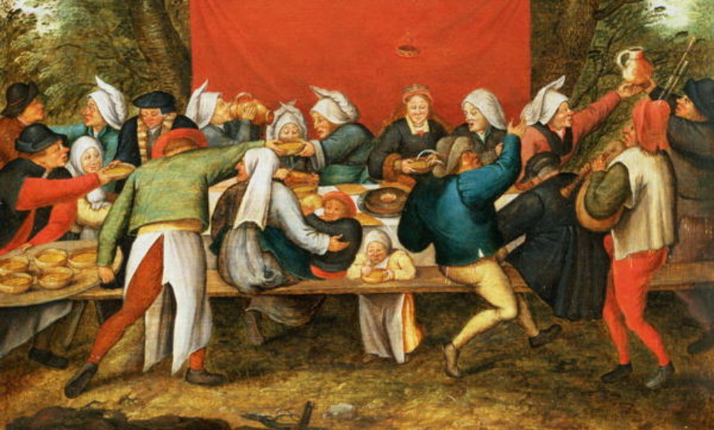 Detail of A Wedding Feast by Pieter the Younger Brueghel