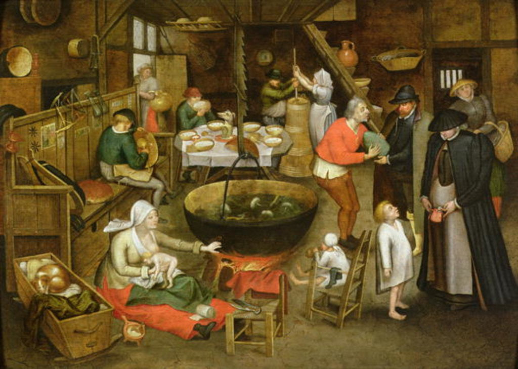 Detail of The Visit to the Farm by Pieter the Younger Brueghel