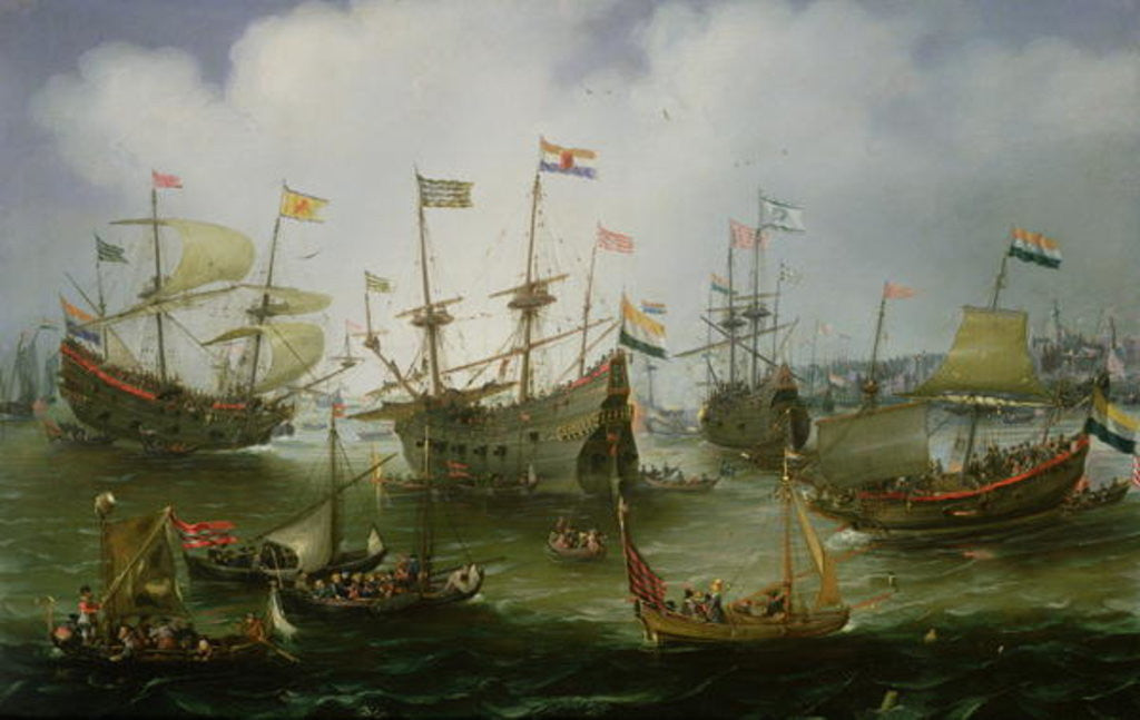 Detail of The Return to Amsterdam of the Second Expedition to the East Indies on 19th July 1599 by Andries van Eertvelt
