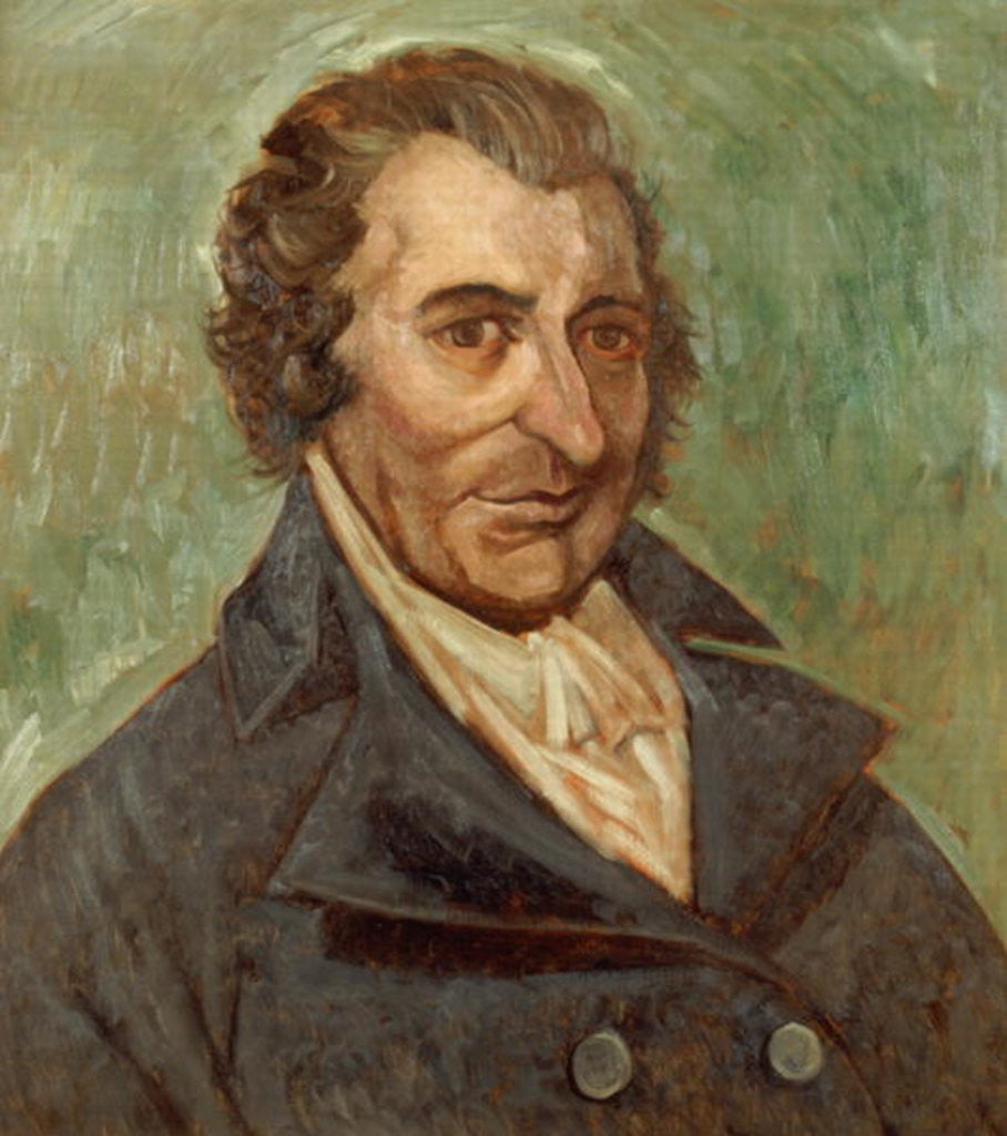 Detail of Portrait of Thomas Paine by A. Easton