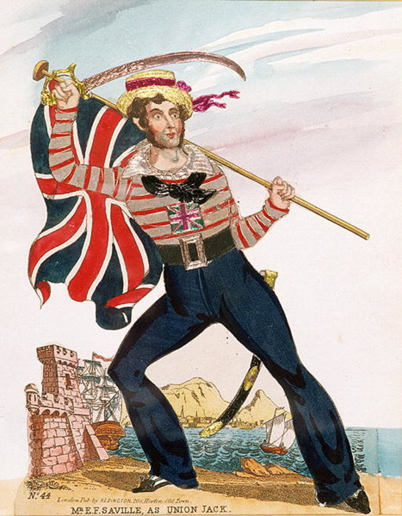 Detail of Mr E.F. Saville as 'Union Jack' by English School
