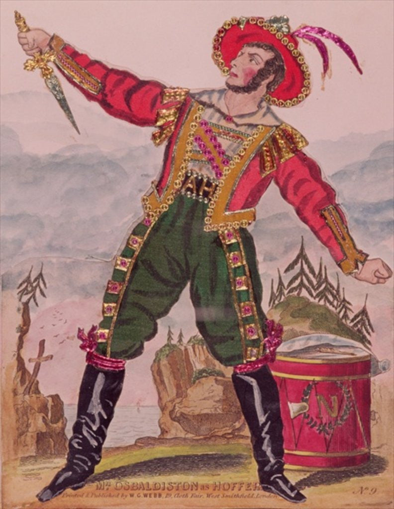 Detail of Mr. Osbaldiston as Andreas Hofer (Hoffer) the Tyrolese patriot leader by English School