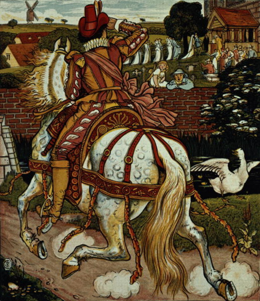 Detail of Margery's brother returns from far off lands by Walter Crane