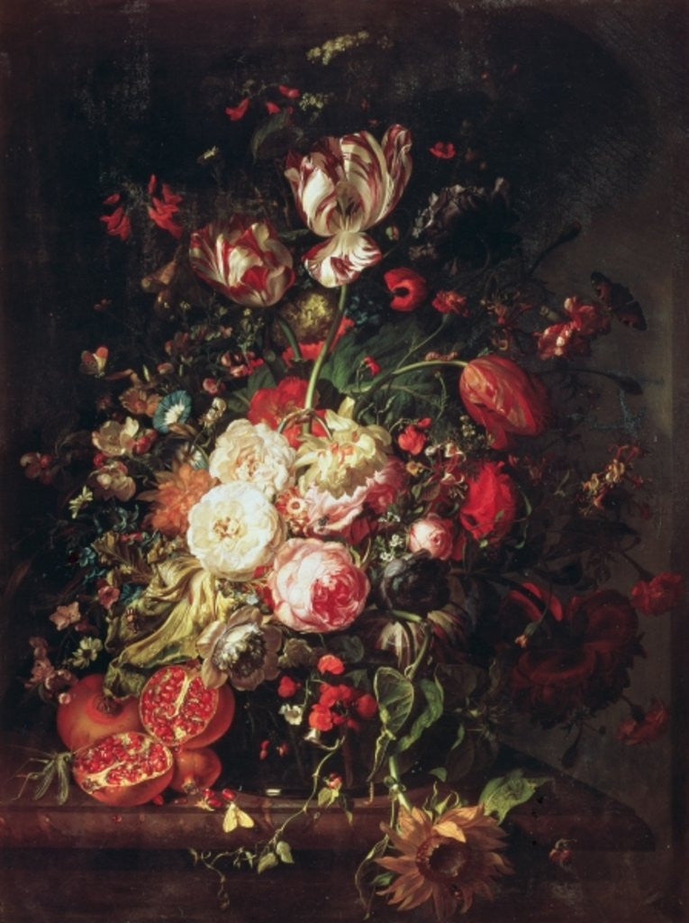 Detail of Flowers and Fruit by Rachel Ruysch