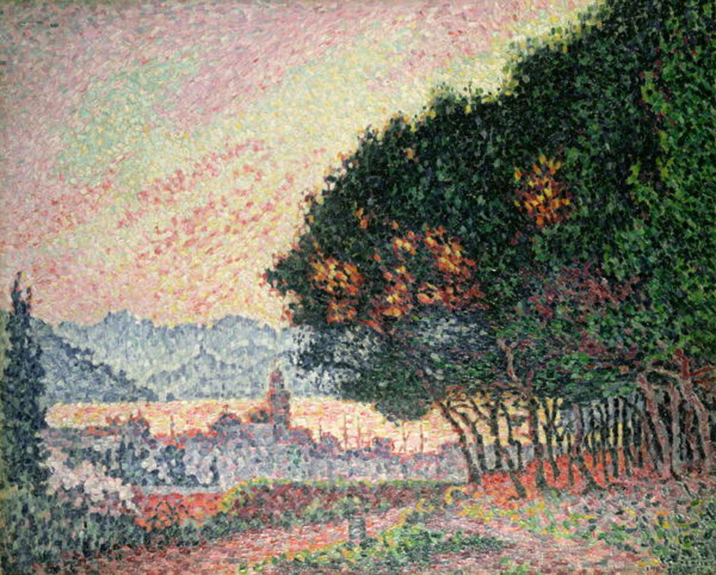 Detail of Forest near St. Tropez by Paul Signac