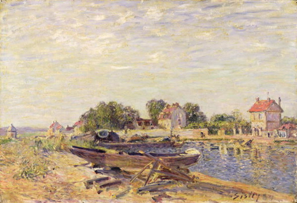 Detail of The Loing at Saint-Mammes by Alfred Sisley