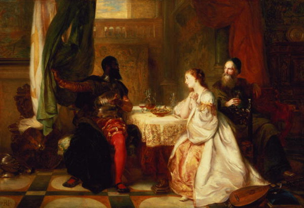 Detail of Othello Relating His Adventures to Desdemona by Robert Alexander Hillingford