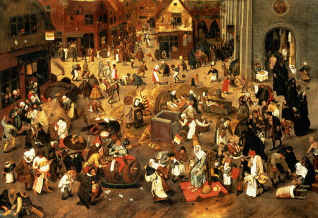 Detail of The Battle between Carnival and Lent by Pieter the Younger Brueghel
